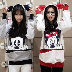 2012 women's clothes Disney Mickey zipper fleece hooded sweater and long sections Qiuyi long-sleeved jacket winter clothes - Taobao
