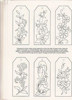 Would be really pretty done in embroidery and then made into bookmarks! pergamano - Page 10