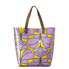 Orla Kiely | UK | bags | Mainline bags | Damask Flower Printed Tarpaulin Willow Tote (16SBTDF067) | lilac