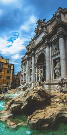Trevi Fountain | The largest Baroque fountain in Rome stands 85 feet high and spills 2,824,800 cubic feet of water per day.