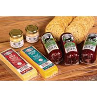 Hunter's Reserve Sausage, Cheese and Gourmet Mustard Gift Box — 8-Pc. Pack