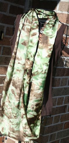 Brown & Green Camo Infinity Scarf by TangerinesCreations on Etsy, $15.00