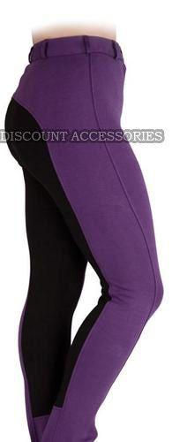 New Ladies Horse Riding Two Tone Soft Cotton Plus Jodhpur All Uk Sizes /& Colors