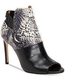 Calvin Klein Women's Sarine Peep-Toe Ankle Booties