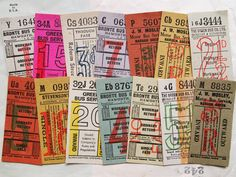 vintage ticket イギリスのかわいいバスチケット http://www.ecrafty.com/c-81-craft-supplies.aspx