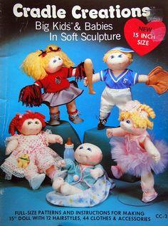Cradle Creations Big Kids & Babies In Soft Sculpture Vintage