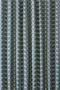 Linear Stem Cool Grey Curtain Fabric