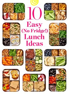Ten easy lunch box ideas that don't need to go in the fridge. Take them on the go and don't worry about keeping them cold! Ten easy lunch box ideas that don't need to go in the fridge. Take them on the go and don't worry about keeping them cold! Healthy Packed Lunches, Cold Lunches, Healthy School Lunches, Make Ahead Lunches, Prepped Lunches, Healthy Meal Prep, Healthy Snacks, Healthy Recipes, Diet Recipes