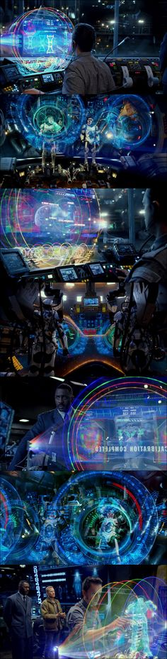 Holy Hell. I want to play with that computer.  Pacific Rim.2013   UX