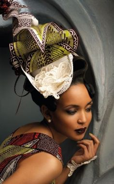 Turbanista - Vlisco Turban - The Tres Chic Africa Fashion, African Inspired Fashion, Turbans, African Head Wraps, African Beauty, African Style, African Women, African Dress, African Attire