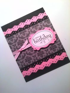 sistochris Scrapbooking and Paper Crafts: Handmade Stamped Greeting Card: Feminine Birthday