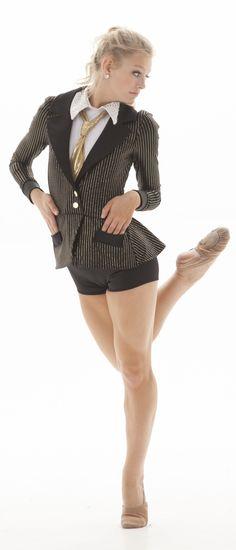 """Suit & Tie"" theme dance costume"