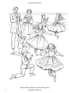 Nutcracker Ballet Coloring Book (Dover Holiday Coloring Book): Brenda ...