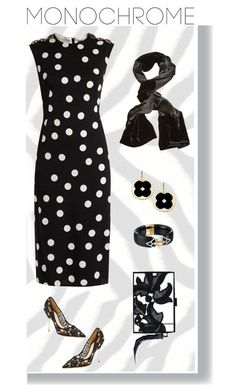 """""""Spotted"""" by feileastram ❤ liked on Polyvore featuring Brewster Home Fashions, Alexis Bittar, Dolce&Gabbana, Kurt Geiger, Monique Lhuillier, Giorgio Armani and Asha by ADM"""