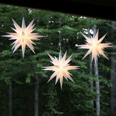 Hang stars from trees, over a DIY tree, or in corners that need light #stars