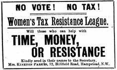 Hayes Peoples History: Women's Tax Resistance League - Uxbridge