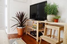 House Tour: A Shared 450 Square Foot San Francisco Rental Kitchen Sink Interior, Kitchen Cabinets In Bathroom, Ikea Hejne, Ikea Hack Kids, Ikea Hacks, Ikea Bench, San Francisco State University, Ikea Living Room, Home Comforts