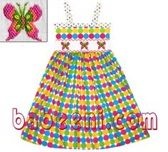 Smocked dress.  Available at : http://babeeni.com/