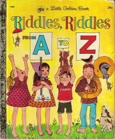 A Little Golden Book of Riddles from A to Z by sweetpeaspantry, $2.00