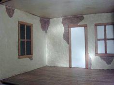 Aged plaster effect