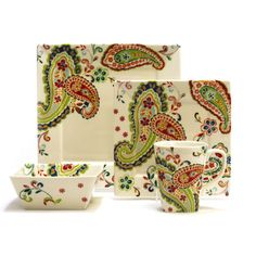 @Overstock.com - 222 Fifth Aeneid Red 16-piece Dinnerware Set - This 16-piece dinnerware set from 222 Fifth features a beautiful paisley design in a vibrant palette. This durable set is made of ceramic and is dishwasher and microwave-safe.  http://www.overstock.com/Home-Garden/222-Fifth-Aeneid-Red-16-piece-Dinnerware-Set/8146564/product.html?CID=214117 $99.99