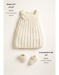 Modele tricot layette gratuit robe tricot b b pinterest layette ps et tricot et crochet - Patron gratuit robe de chambre femme ...