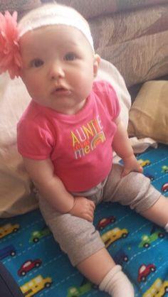 Watching the monkey today (: Baby Renee.