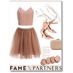 A fashion look from September 2015 featuring Fame & Partners gowns, Marni pumps and Judith Leiber clutches. Browse and shop related looks.