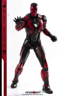 """Marvel Legends Tony Stark Head Black Suit Body Suit Black Panther etc 6/"""" Figure"""