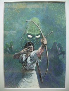 """Thorgal """"Au delà des ombres"""" par Grzegorz Rosinski - Oeuvre originale http://www.2dgalleries.com/art/thorgal-au-dela-des-ombres-19375"""