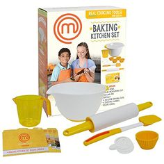Kids' Cooking Kits - MasterChef Junior Baking Kitchen Set  7 Pc Kit Includes Real Cooking Tools for Kids and Recipes * Want additional info? Click on the image.