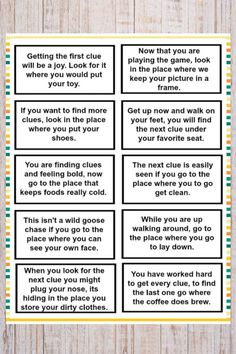 Treasure Hunt Clues for Kids Treasure Hunt Clues for Kids Treasure Hunt Clues for Kids<br> These printable treasure hunt clues for kids are a fun and easy kids activity. The clues are great for any family to use for a fun family activity. Kids Scavenger Hunt Clues, Kids Treasure Hunt Clues, Easter Scavenger Hunt, Scavenger Hunt Birthday, Halloween Scavenger Hunt, Christmas Scavenger Hunt, Treasure Hunt Riddles, Treasure Hunt Birthday, Pirate Treasure Hunt For Kids