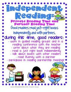 Anchor charts on independent reading, partner reading, stamina, just right books. Examples of reading logs & info on reading notebooks. Reading Posters, Reading Groups, Reading Strategies, Reading Activities, Reading Skills, Reading Worksheets, Reading Resources, Teacher Resources, 4th Grade Reading