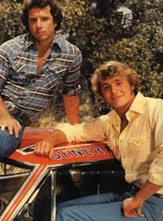 """Tom Wopat and John Schneider as Luke and Bo Duke from the TV show, """"The Dukes of Hazzard"""" Nostalgia, My Childhood Memories, Best Memories, Best Tv, The Best, Bo Duke, Dukes Of Hazard, John Schneider, The Lone Ranger"""