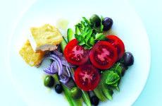 4 grilled feta greek salad