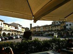 Piazza Matteotti, main square of Greve in CHianti