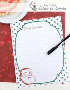 Use this free printable letter to Santa template this holiday season with your little ones. So cute!