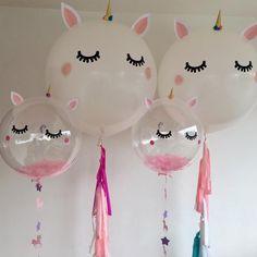 Unicorn Birthday Parties, Unicorn Party, First Birthday Parties, 5th Birthday, Birthday Ideas, Transparent Balloons, Unicorn Balloon, Unicorn Baby Shower, Festa Party