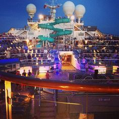 top deck Carnival Freedom cruise Photo by bumper1215
