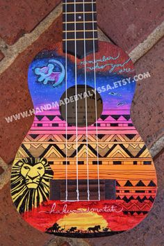 Custom Painted Ukulele. I know it's not a guitar so it shouldn't be in this board but idc lol.