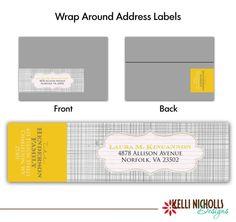 Mod Grey Wrap Around Address Labels