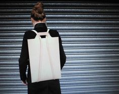A Chic Leather Backpack, Just For Your Laptop