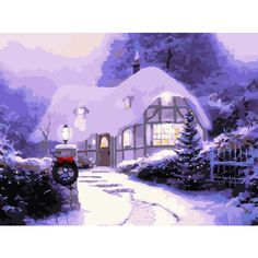 Christmas Modern Simple DIY Hand Panting DIY Oil Painting Christma... ($20) ❤ liked on Polyvore featuring home and home decor