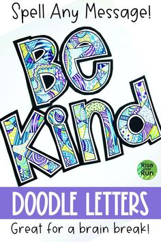 Doodle Coloring Letters Students love coloring these bulletin board letters in! You can spell any motivational or classroom message. Create your own classroom decor. Great for early finishers or a brain break. Doodle Coloring, Coloring Pages, Coloring Sheets, Classroom Fun, Classroom Activities, Letters Ideas, Coloring Letters, Bulletin Board Letters, Art Education