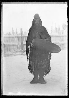 "Jochelson, Waldemar, 1855-1937, ""Tundra Yukaghir shaman, Siberia, 1902,"" AMNH Digital Special Collections"