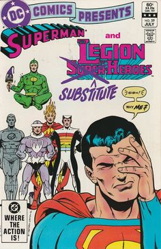 DC Comics Presents Vol. 6 No. 59 1983 Superman and the Legion of Substitute Heroes by TheSamAntics