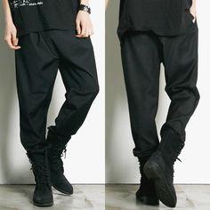 Remember Click Black Baggy Tapered Slacks BLACK M L Korean Wear #RememberClick #CasualPants