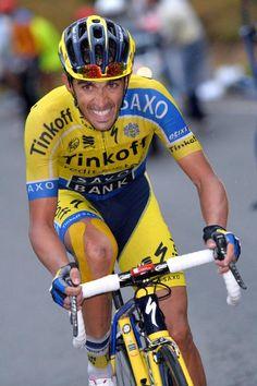 Vuelta a España 2014 - Stage 9: Carboneras de Guadazaón - Aramón Valdelinares 185km - Alberto Contador (Tinkoff-Saxo) grits his teeth!