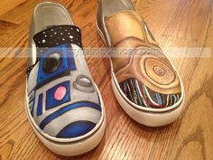 painted Star Wars shoes Slip-on Painted Canvas Shoes