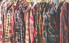 70s - 90s Vintage Flannel Shirts Worn Grunge Thin / Thick Comfortable on Etsy, $13.99